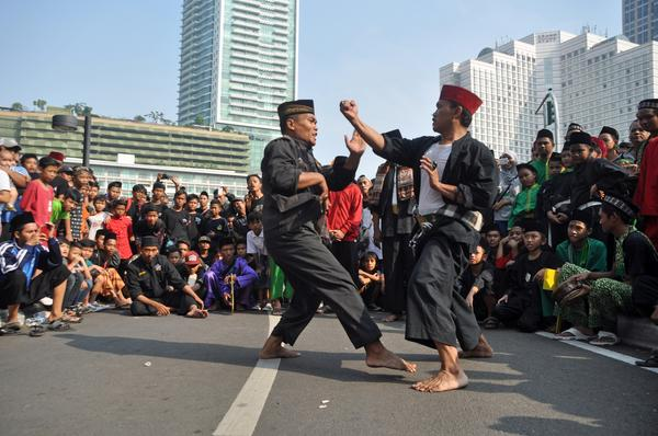 The Pencak silat, Indonesian martial art